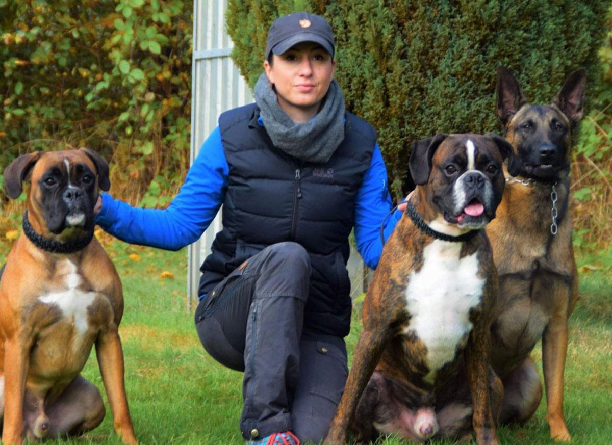 Kathrin Heldt-Andreas & Helge vom Wümminger Hof, Aragon von Bailey (Archie), Alfons ex mera passio (Fons)